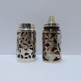 Sterling & Amber Glass Jar Set