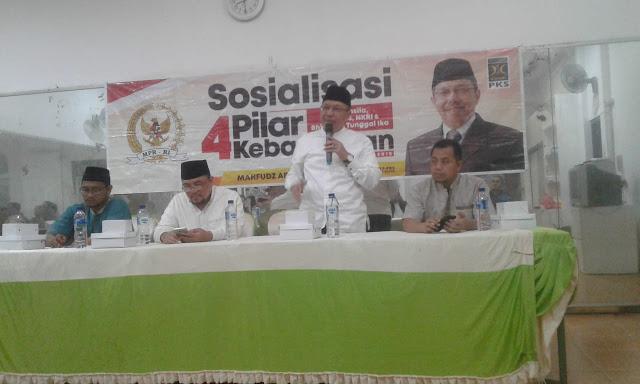 DKM Al Ikhlas Dan Mahfudz Abdurrahman gelar Sosialisasi 4 Pilar Kebangsaan