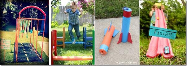 pool noodle outdoor activities for kids
