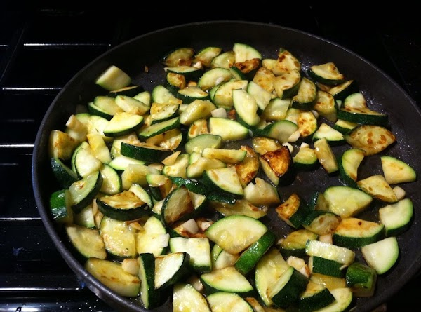 ADD ZUCCHINI TO PAN CAREFULLY N TURN ZUCCHINI AFTER 3 MINUTES LET BROWN SLIGHTLY...