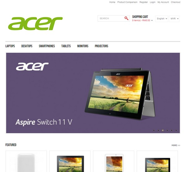Acer Malaysia has launched their new online store.