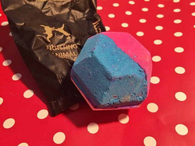 Close up photo of The Experimenter bath bomb by Lush
