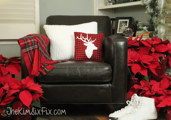 Sweater Pillow with Plaid