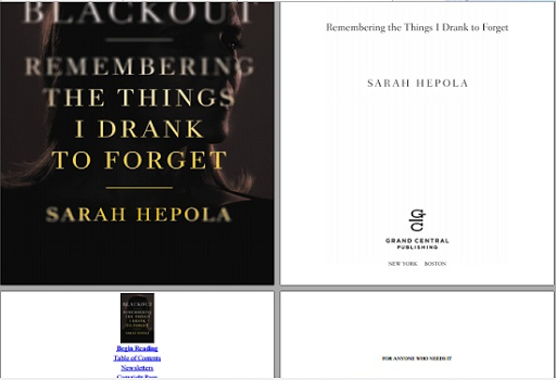 Blackout Remembering the Things I Drank to Forget free ebook