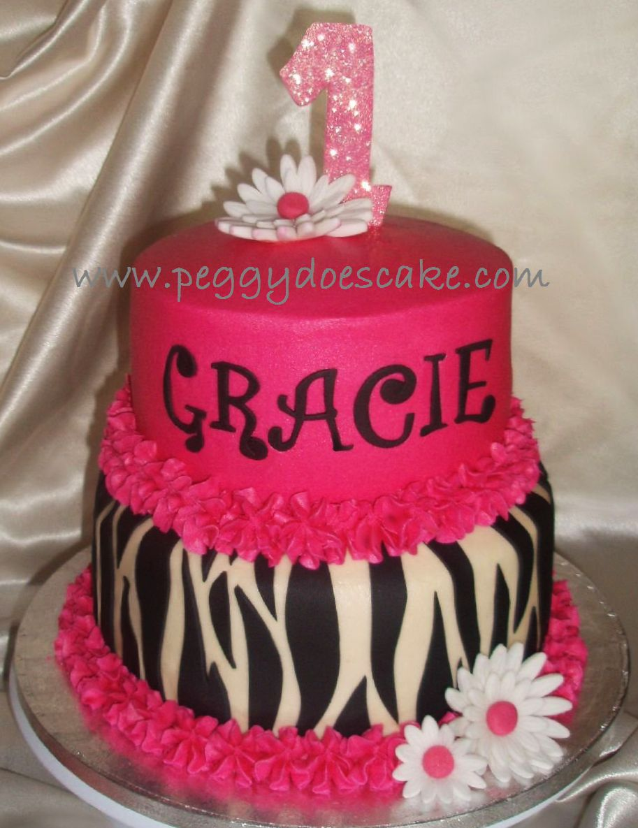 Peggy Does Cake Hot Pink and Zebra Print Cake click photos to