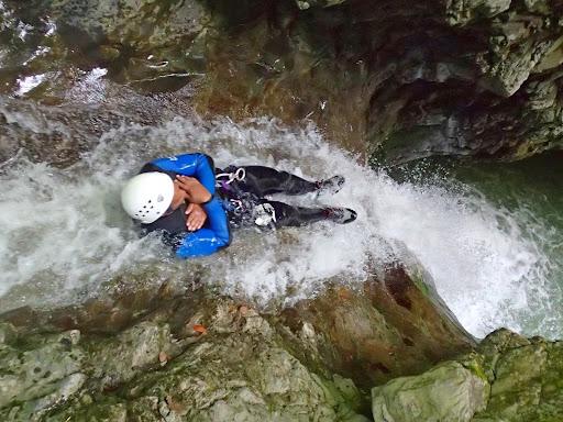 Tobbogan, canyon de Montmin, Haute-Savoie