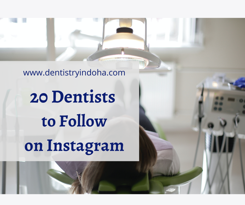 20 Dentists to Follow on Instagram who updates detailed, well researched posts- Includes General Dentists, Specialists, Residents and Students