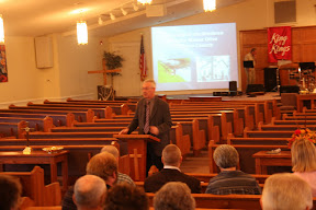 Dr. Dale Stoffer presents history of the Brethren Church and Mt. Olive Brethren