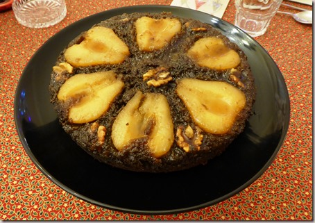 sticky pear upside down cake4