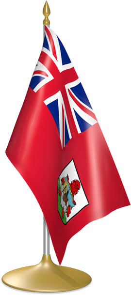 Bermudian table flags - desk flags