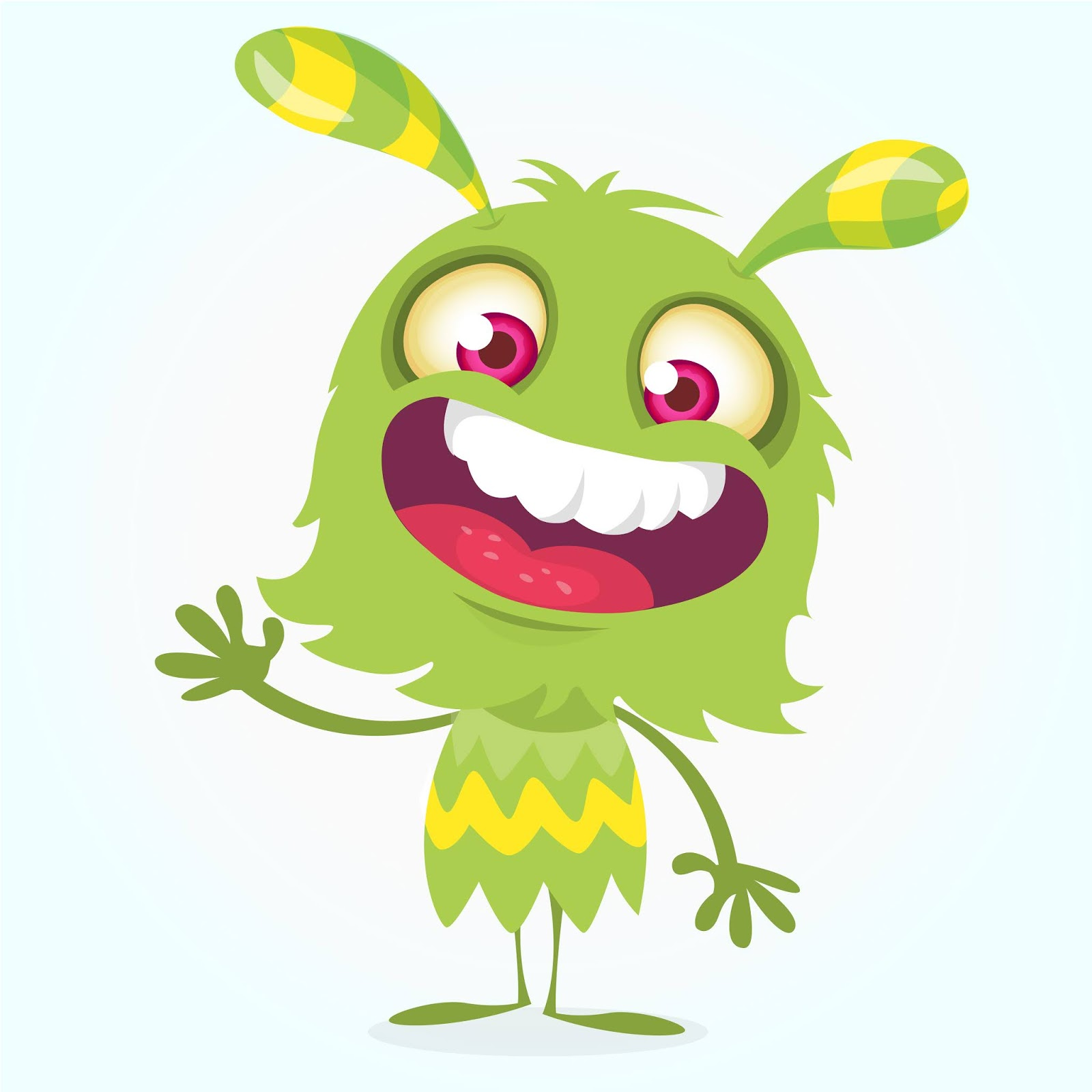 Cartoon Cool Monster Illustration Free Download Vector CDR, AI, EPS and PNG Formats