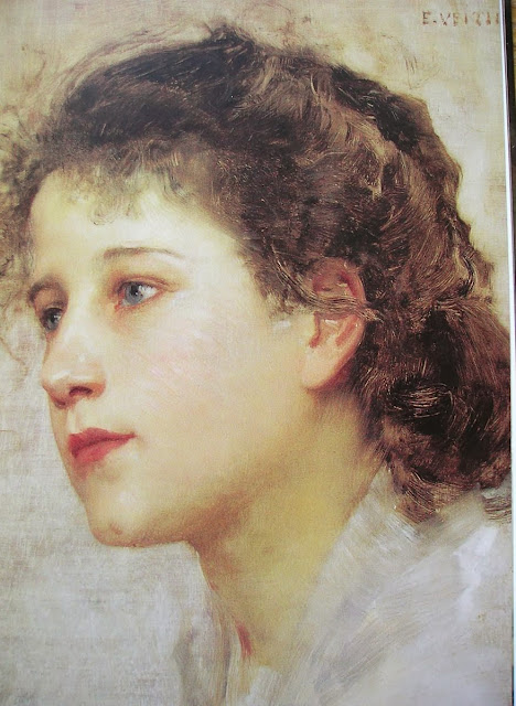 Eduard Veith - Head of a Girl