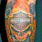 Harley Davidson skull - tattoo meanings