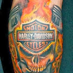 Harley Davidson skull - tattoo meanings