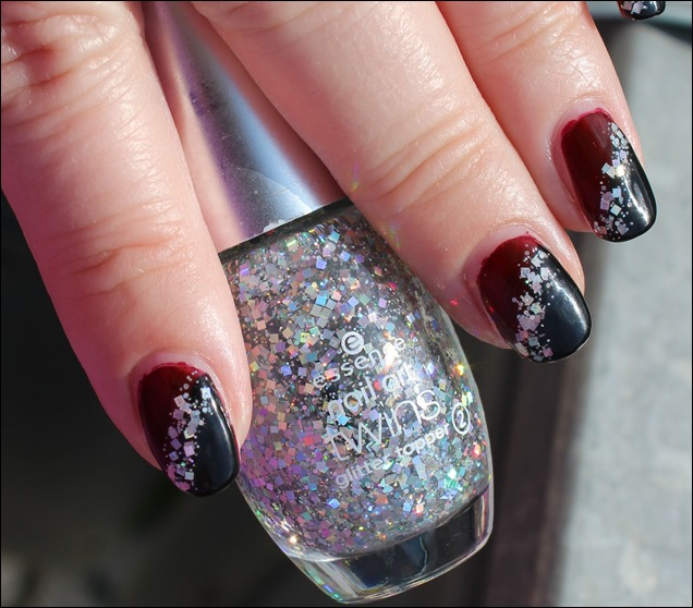 Bordeaux Glitter Nail Art 04