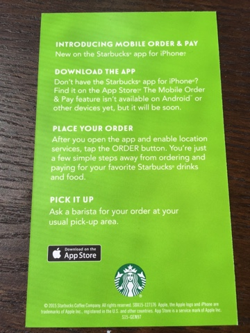 Ordering Starbucks drinks thru the mobile app | You can Call