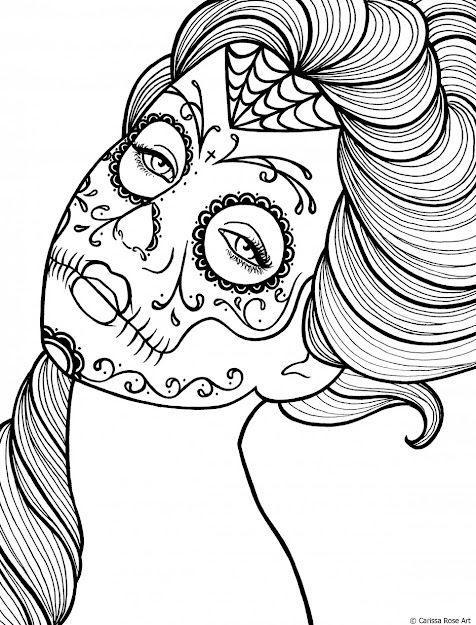 Finest Sugar Skull Coloring Pages Modern Free Pattern In Candy Skull Coloring  Pages
