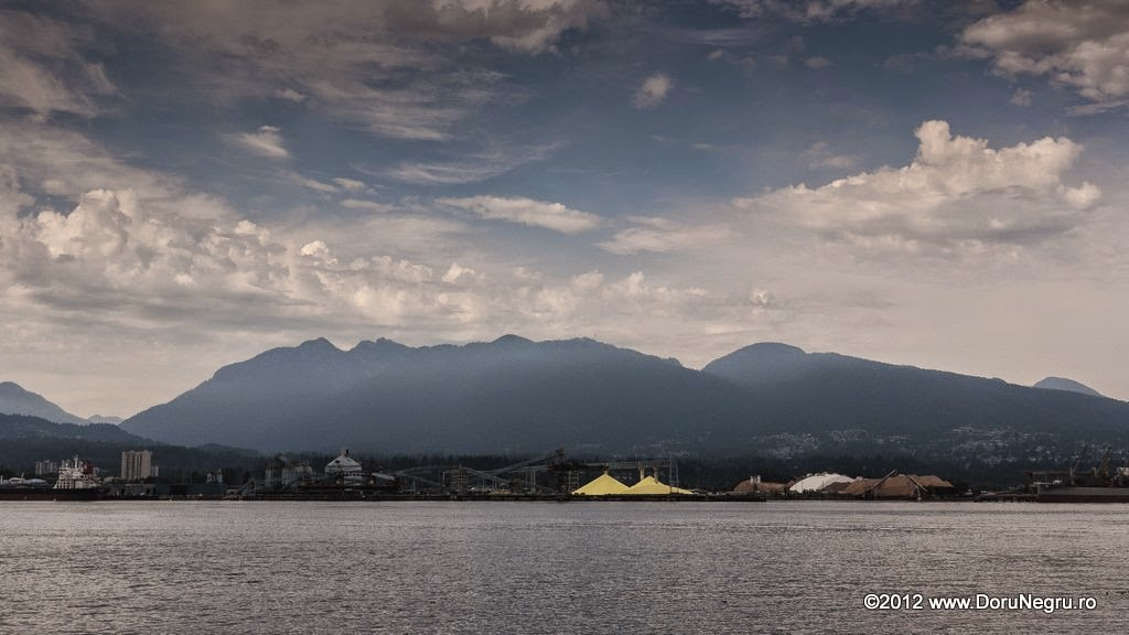A view at the port of Vancouver across Coal Harbour