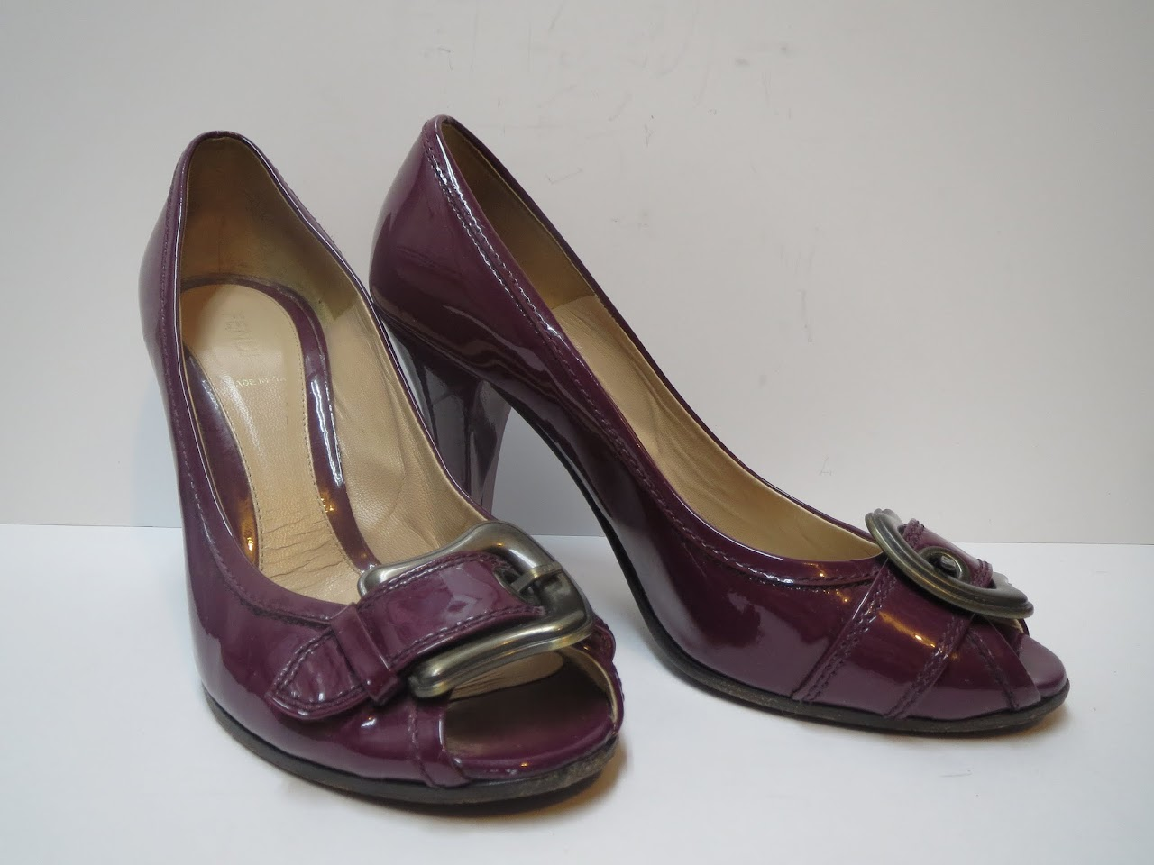 Fendi Purple Patent Pumps