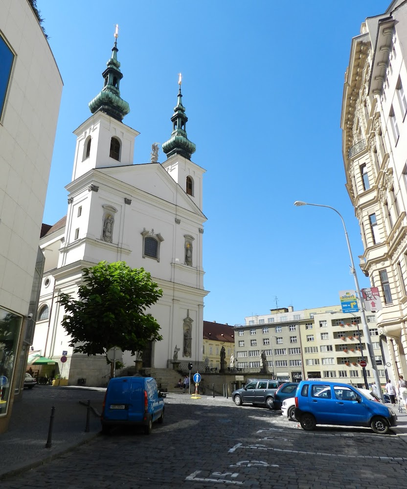 one of many fascinating Brno churches....