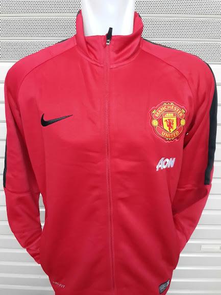 Jual Jaket Manchaster United AON Merah List Hitam 2014-2015