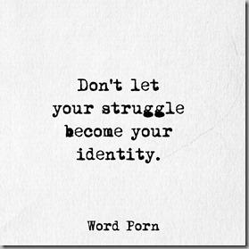 struggle not identity