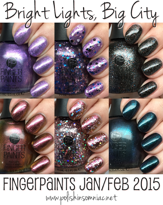 FingerPaints Bright Lights, Big City ♥ Swatches and Review