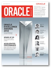 Oracle Magazine January 2013 cover