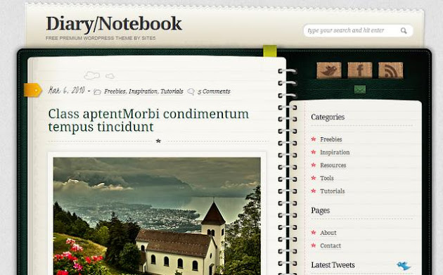 Dairy Notebook WordPress Theme