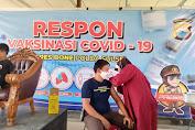 Pengurus APKLI Bone Jalani Vaksinasi Gratis di Mapolres Bone Sambut HUT Bhayangkara ke 75