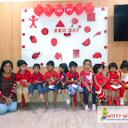 Red Celebration by Playgroup Section (2017-18) at Witty World, Bangur Nagar