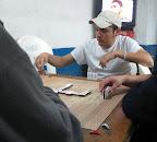Dominos with bottle caps in El Fuerte