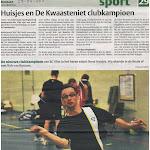 Kranten berichten Clubkampioenschappen 2010