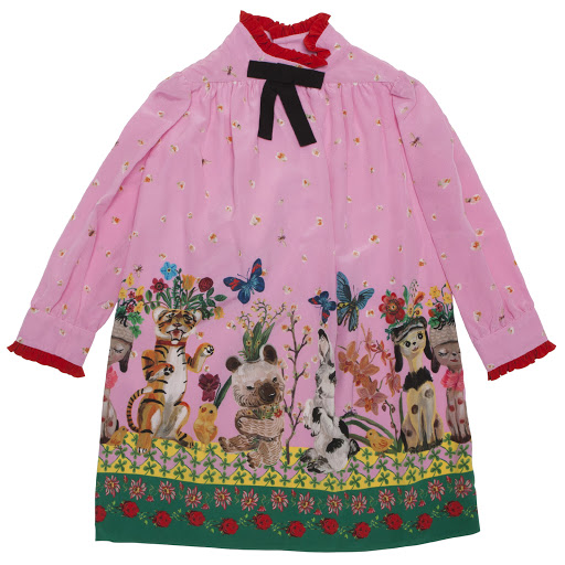 Primary image of Gucci Silk Floral Dress