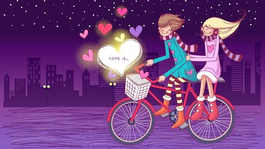 Valentinovo besplatne ljubavne slike čestitke pozadine za desktop 1920x1080 free download Valentines day 14 veljača bicikl