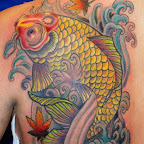 scapula yellow - Koi Fish Tattoo