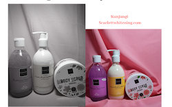 [REVIEW] Scarlett Whitening Body Care: Shower Scrub, Body Scrub, and Body Lotion
