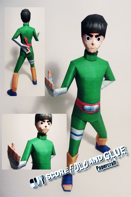 Naruto Rock Lee Papercraft