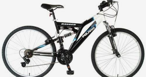 Polaris Men's Ranger Mountain Bike (Black/Blue, 26 X 18