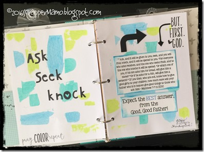 Praise Book Ask Seek Knock