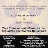 Assembleia Geral 31/08/11 Para todas Secretarias Municipais exceto SMED