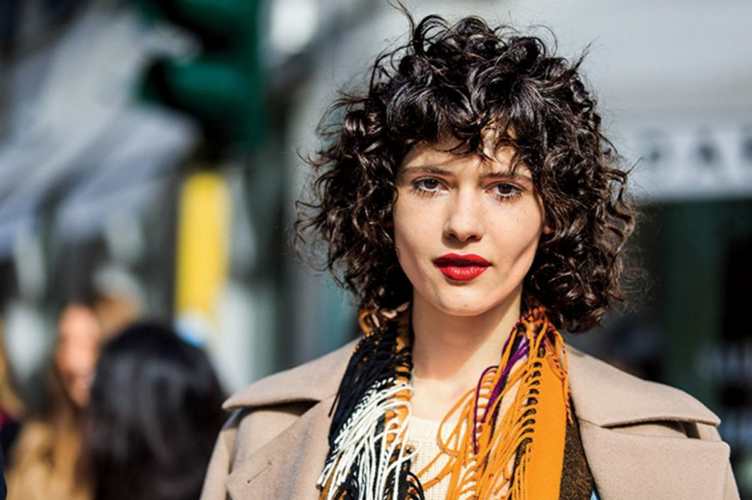 PLEASANT CURLY HAIR WITH BANGS FOR WOMEN IN 2019 6