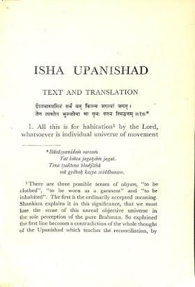 Isha Upanishad - Sri Aurobindo