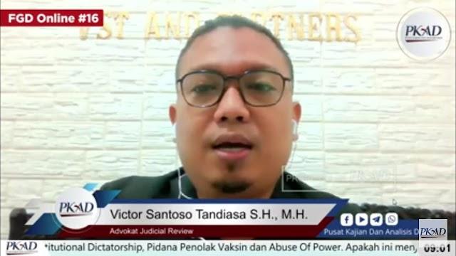 Victor Santosa: Penerima Vaksin Harus Patuhi Protokol Kesehatan 3M