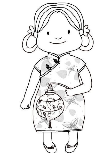 Dibujos para colorear de niños chinos - Imagui
