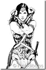 Wonder Woman dibujos para colorear | Mujer maravilla para colorear