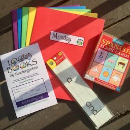 daily learning folder 1000 books before kindergarten  spanish flashcards sight words education homeschool thedailyaprilnava top mom mommy blogger