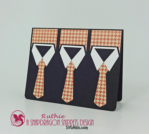 necktie trio card, SnapDrgon Snippets, Ruthie Lopez 4