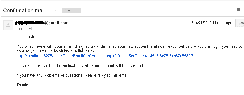 CreateUserWizard Account Activation Email Verification Confirmation