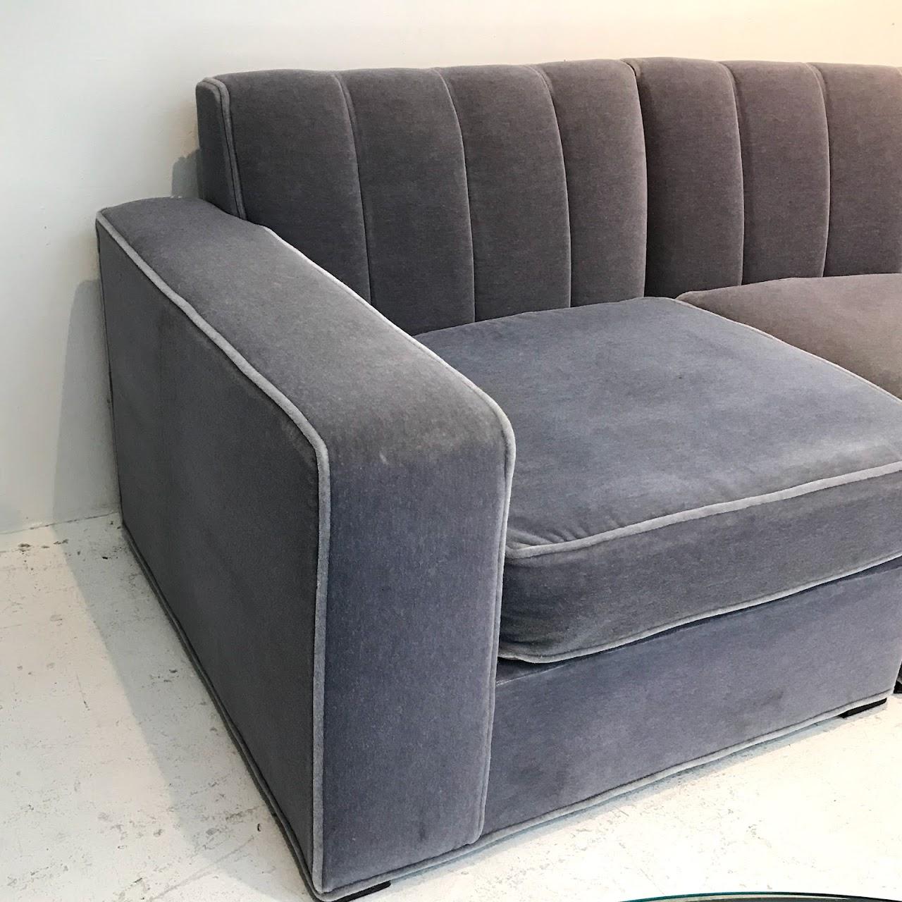 Enjoyable Lilac Mohair Curved Sectional Sofa Shophousingworks Ibusinesslaw Wood Chair Design Ideas Ibusinesslaworg